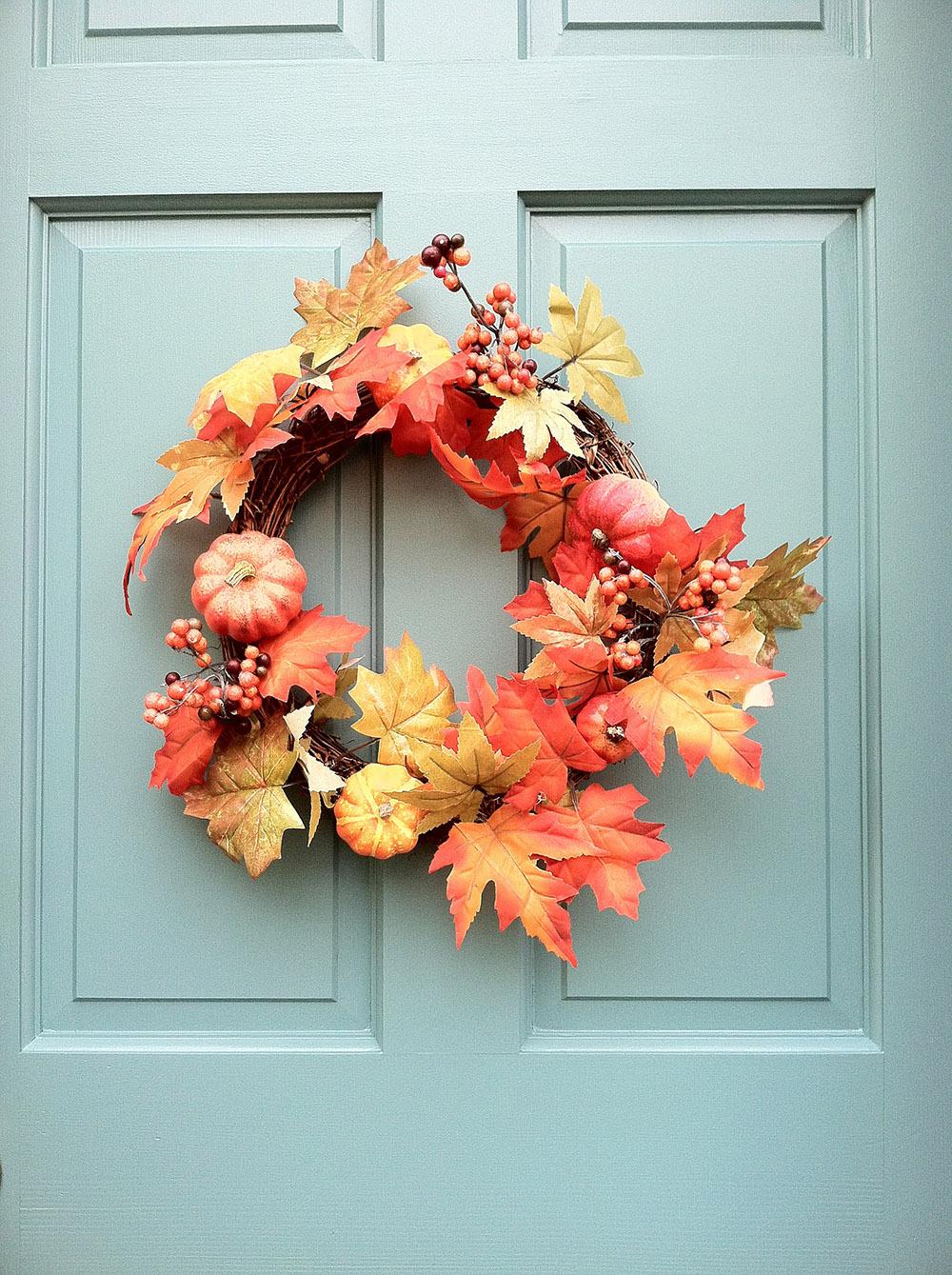 Fall Wreath on Door